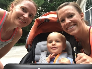 Brick workout with a baby and a buddy!